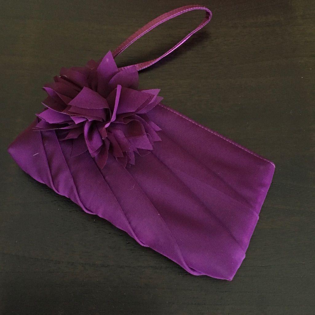 Deep Purple Mini Evening Wristlet