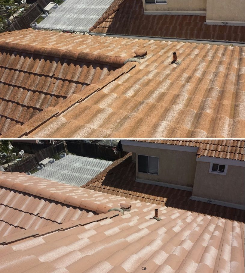 Oceanside Ca Tile Roof Cleaning Pressure Washing Services Roof Cleaning Roof
