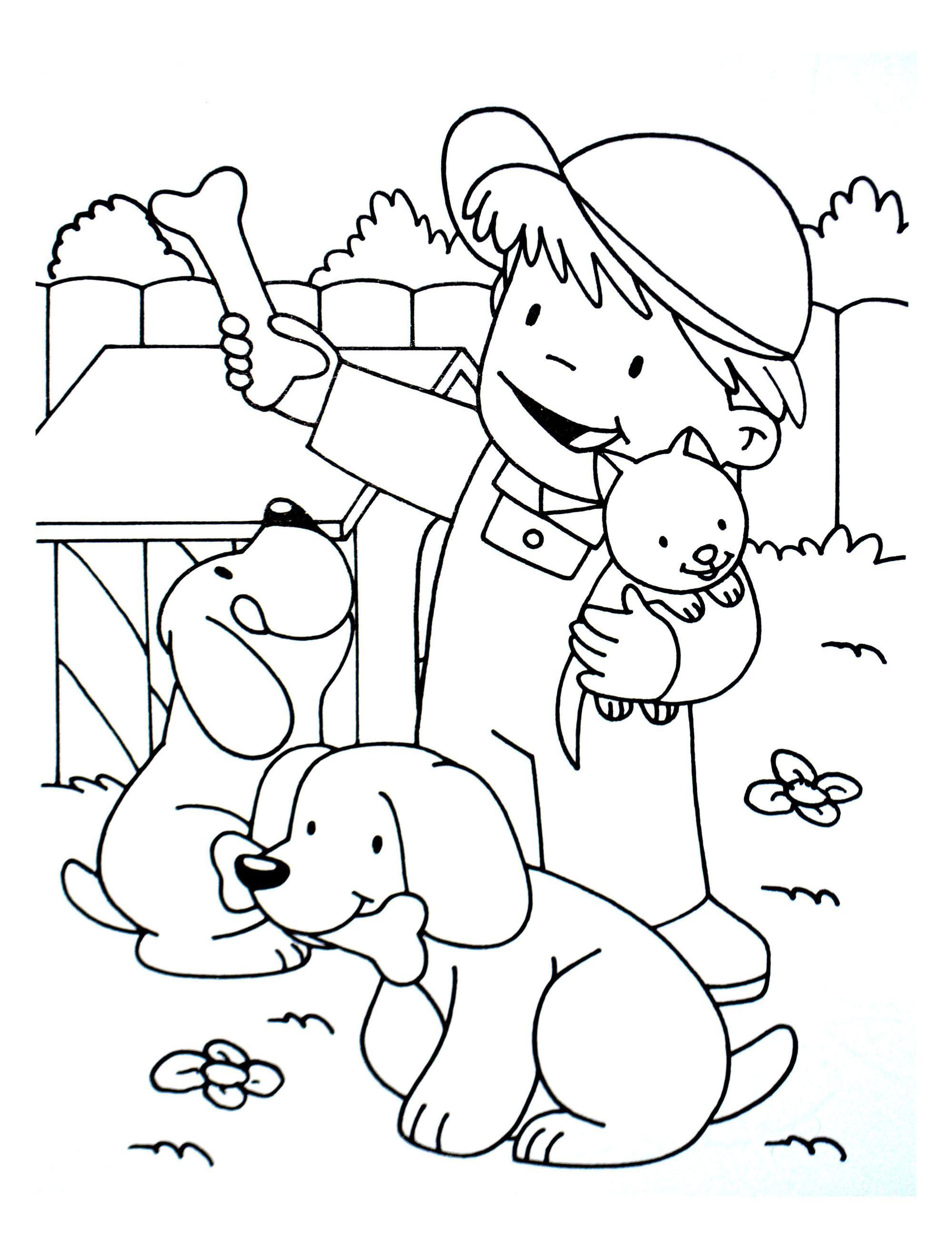 Coloriages pour enfants de chiens gratuits  imprimer