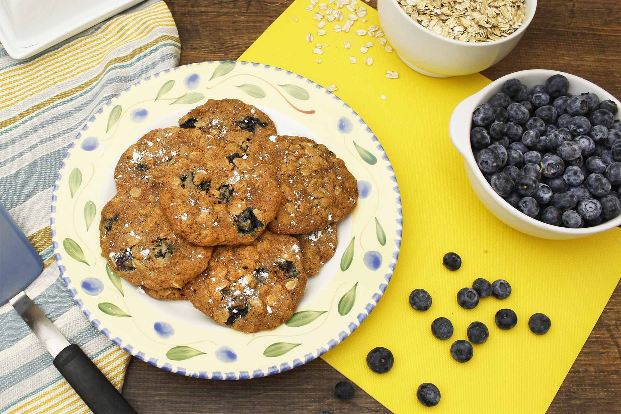 Spiced Oatmeal Blueberry Cookies Recipe Blueberry
