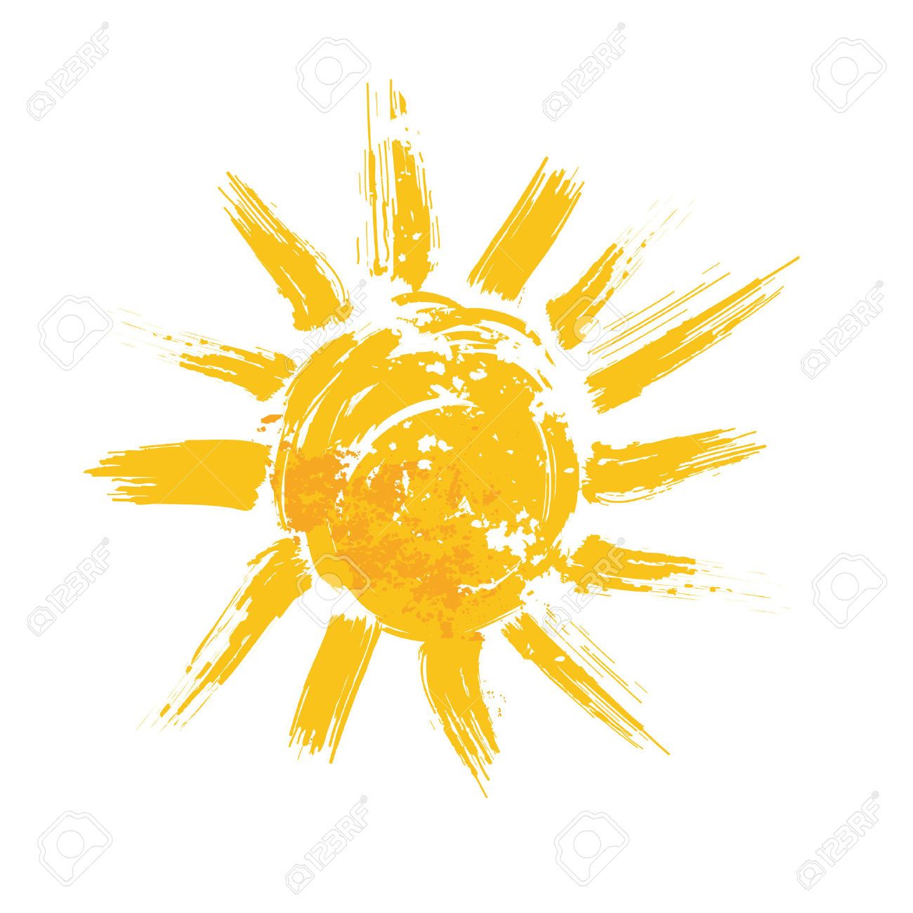 Myndanidurstada Fyrir Sunshine Watercolor Sun Illustration Flat