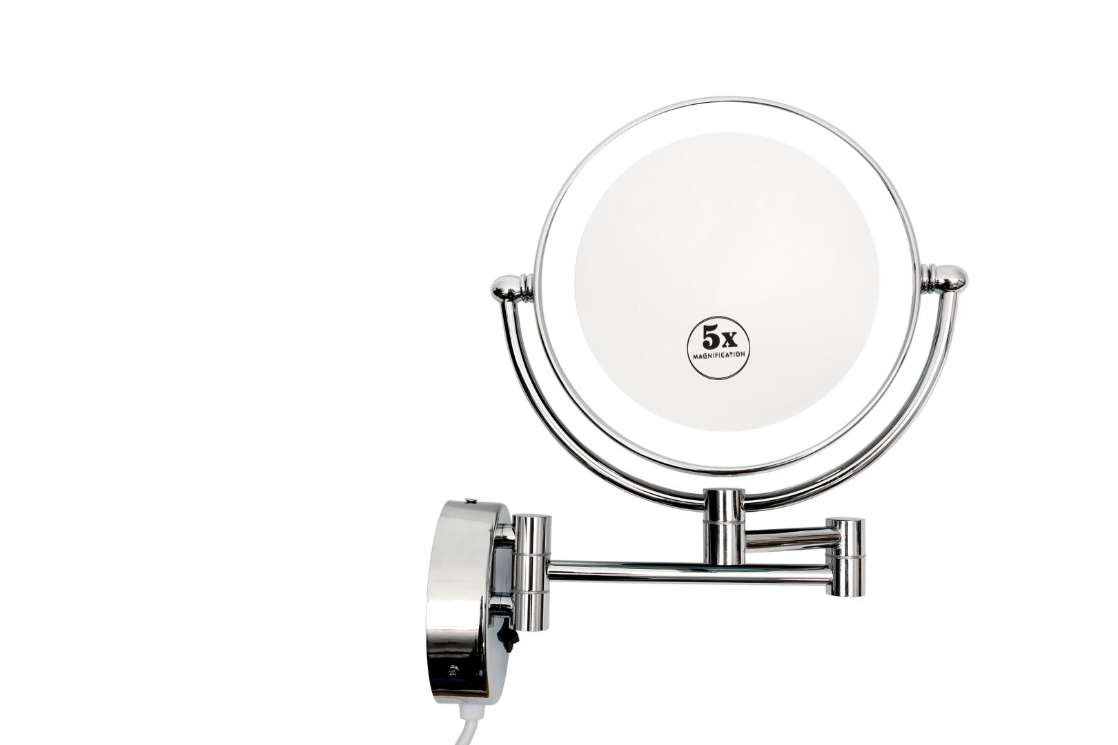 Led Kosmetikspiegel Kiew 5 Fach Vergrosserung Badezimmer Badspiegel Inneneinrichtung Bathroom Lichtspiegel Lightedmirror B Led Lichtspiegel Kosme