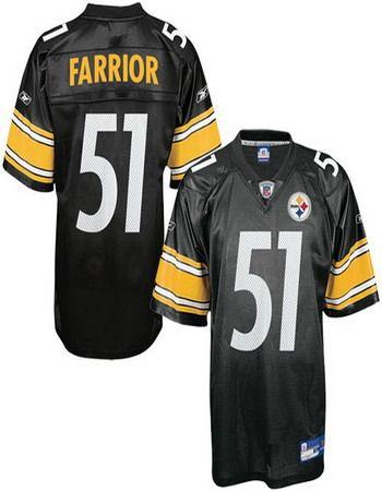 new concept 7f6dd 43956 Steelers #51 James Farrior Black NFL Jersey   NFL Jerseys ...