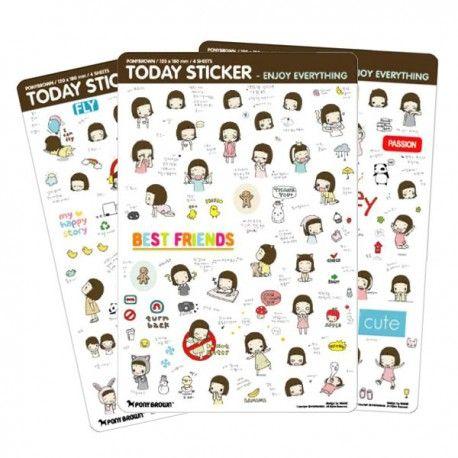 Pony Brown Day & Day Today Stickers Set (◕ᴥ◕) Kawaii Panda - Making Life Cuter