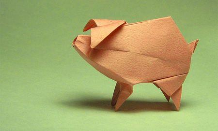 One Little Piggy Oragami