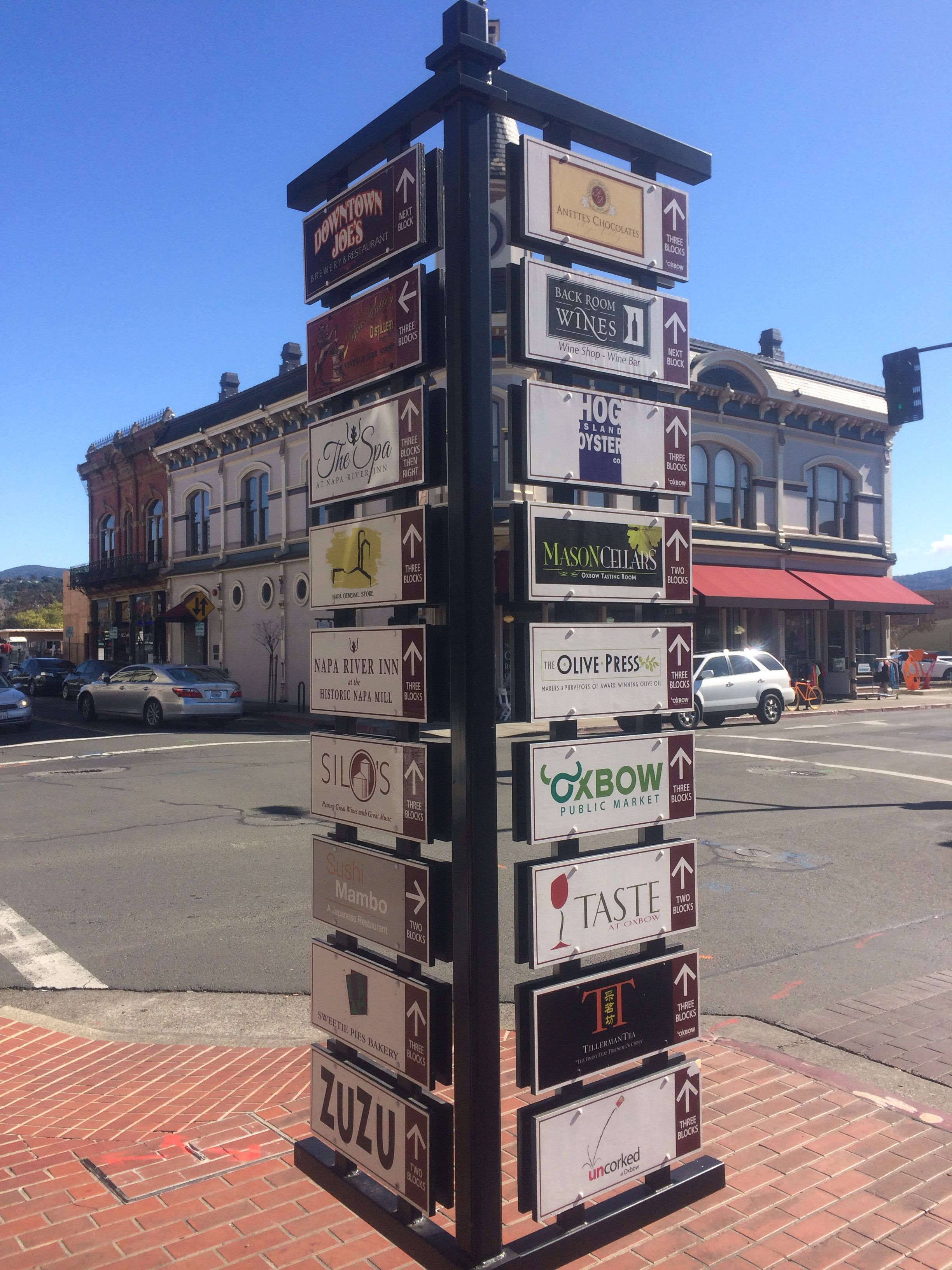 Downtown Napa is becoming a happening place with many fine eateries bars and a nice River Front