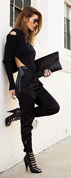 Black Cut-Outs / Street Chic.