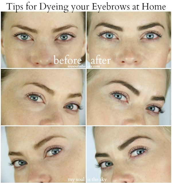 How To Dye Your Eyebrows At Home Womens World Pinterest