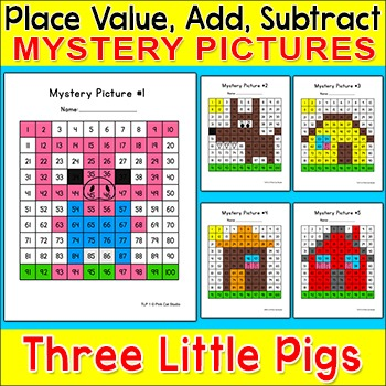 Students Will Practice Number Identification And Counting Skills While Coloring Numbers To Reveal A Picture Of A Gray Squ Hundreds Chart Mystery Pictures Chart