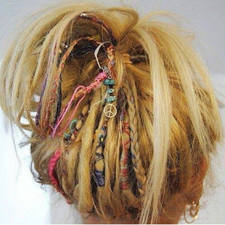 A Few Dreads First Then They Make Friends This Is How Mine Started Hair Styles Hippie Hair Boho Hairstyles