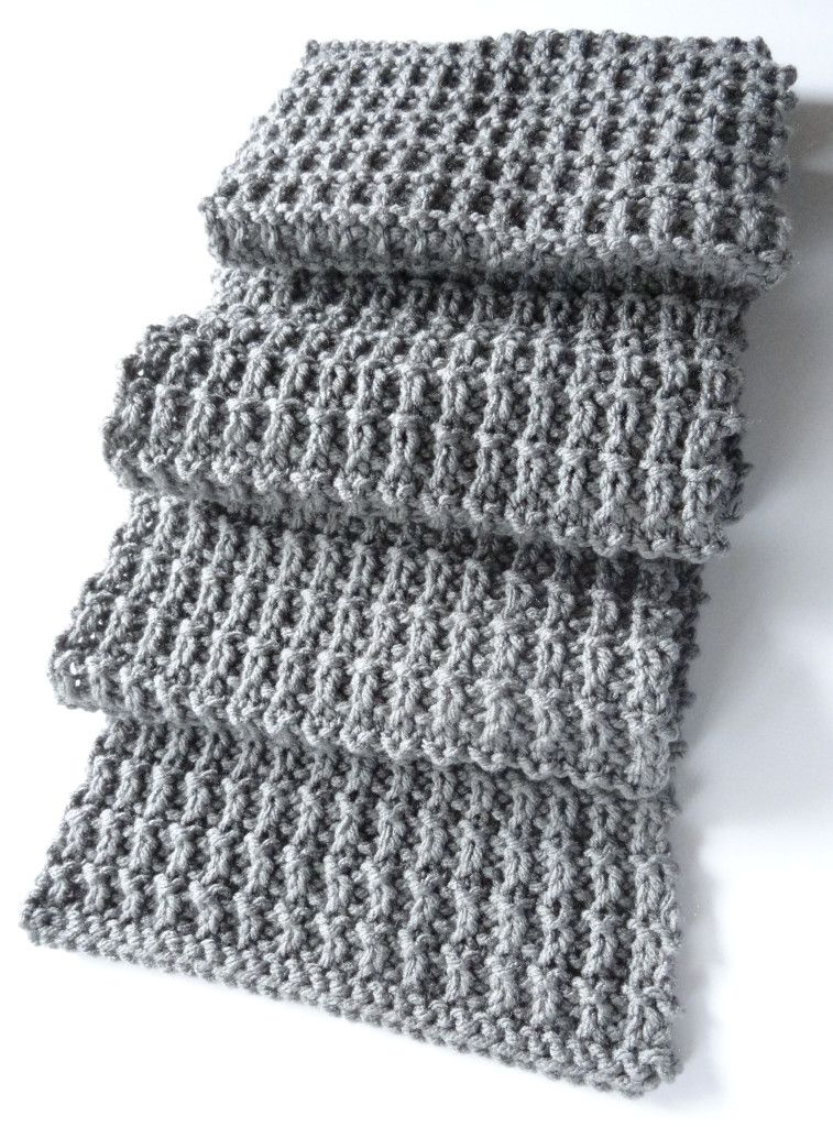 A Scarf Pattern That Isnt Beyond My Meager Abilities Diy