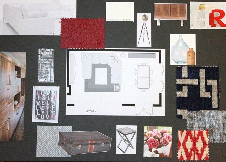 Beautiful Interior Design Concept Board With Boards And Theme