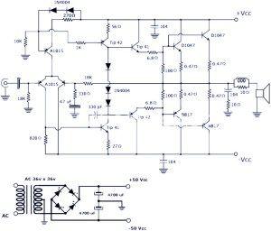 High Power Amplifier Schematic Diagram High Power 600 Watt Quasi
