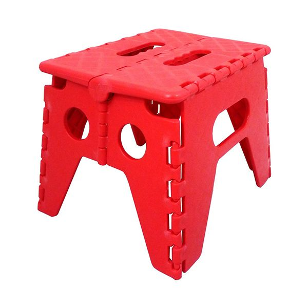 Plastic Fold Flat Stool Bold Colours Available Step