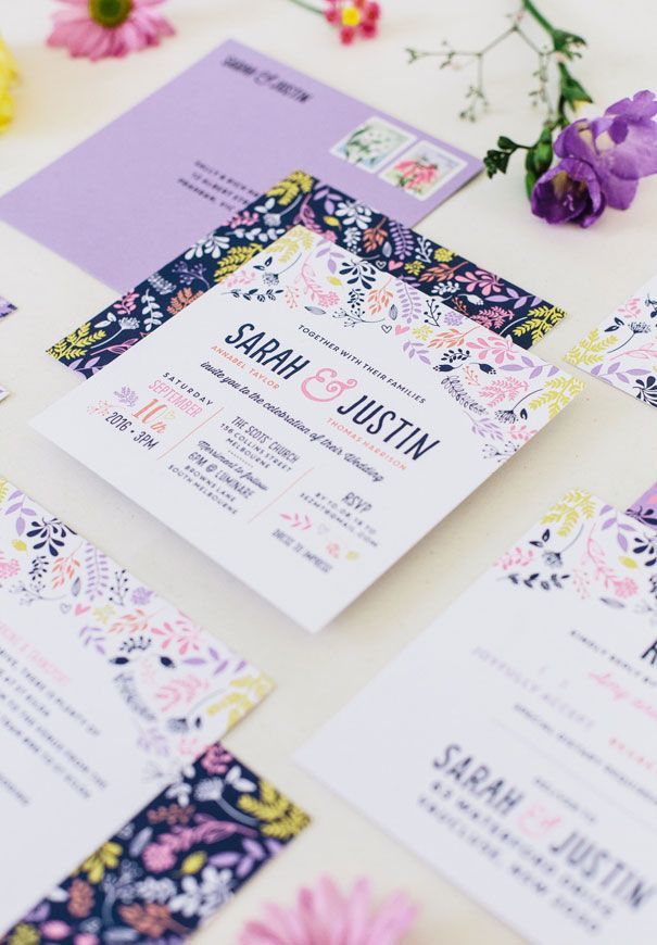 THE PRINT FAIRY: WILDFLOWER // #stationery #floral #pink #purple #y ...
