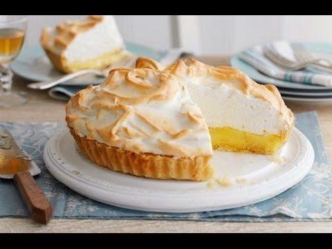 Лимонный пирог с меренгой рецепт