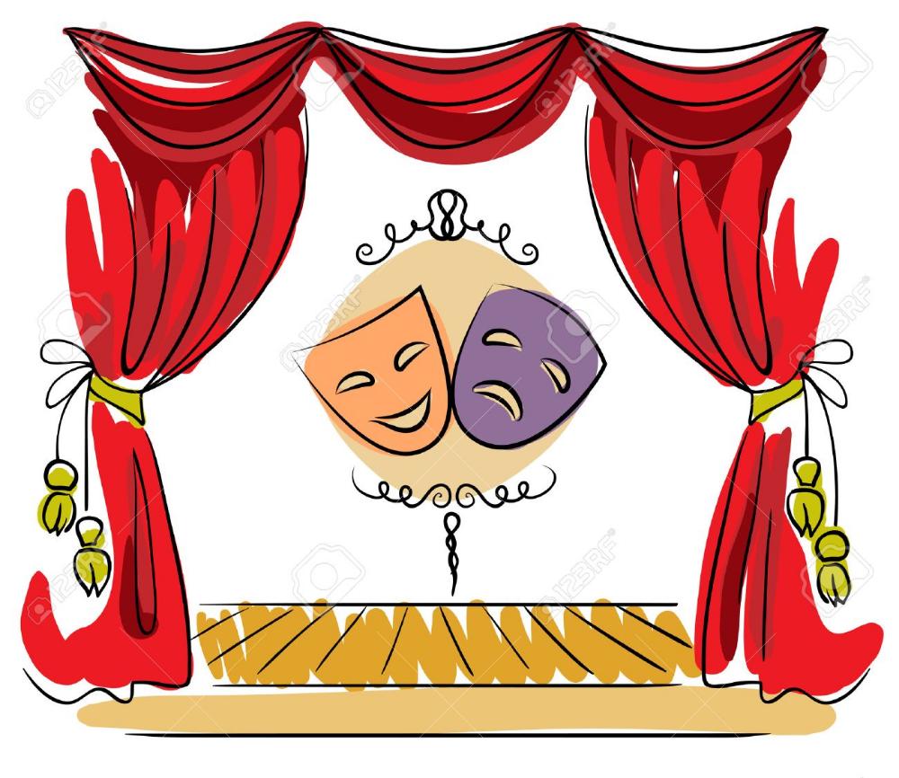 Teatro Escenario Con Telón Rojo Y Máscaras Ilustración Imagenes De Teatro Dibujos Para Caratulas Dibujos De Teatro