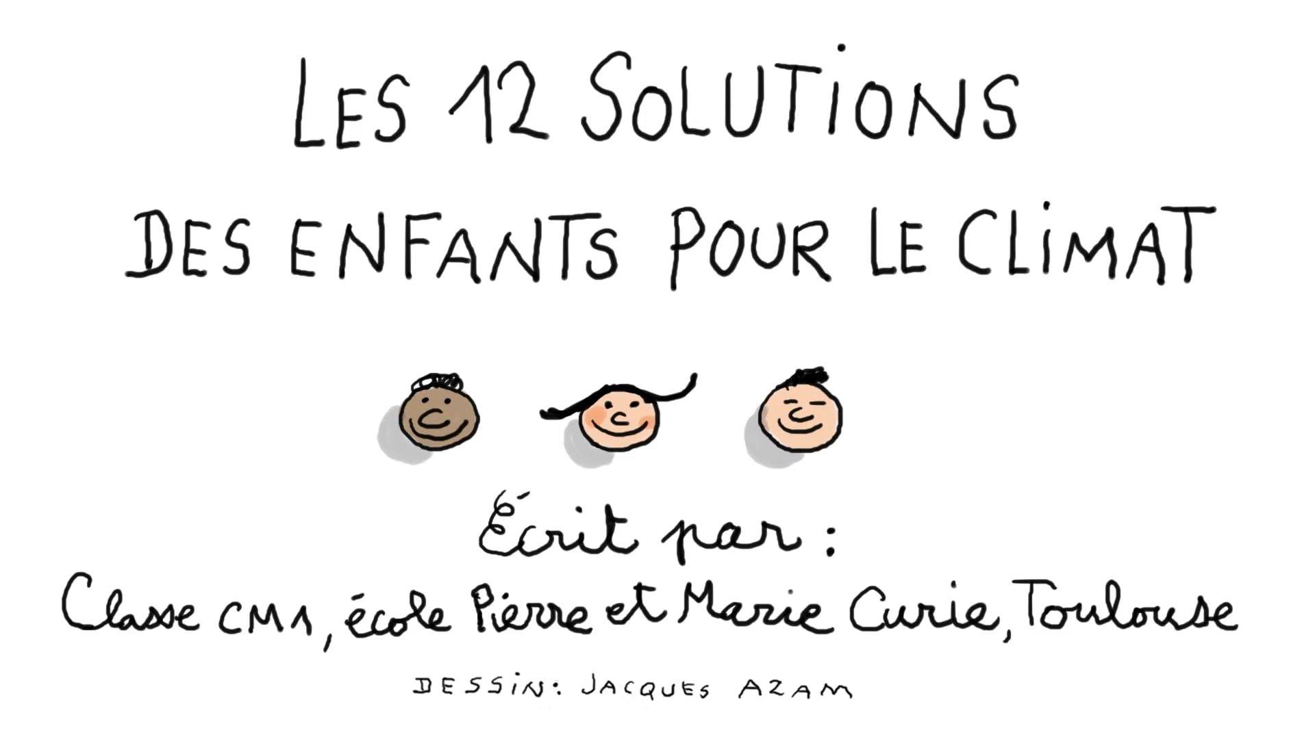 12 Solutions Pour Le Climat