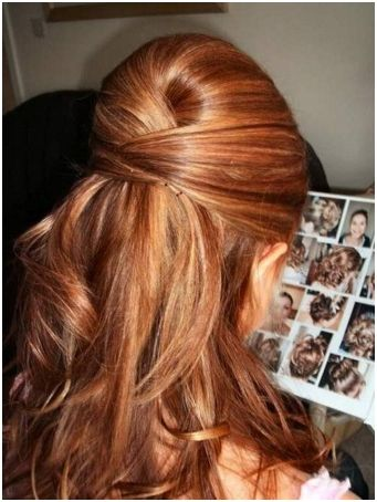 Pix For Prom Hairstyles Medium Hair Half Up Down