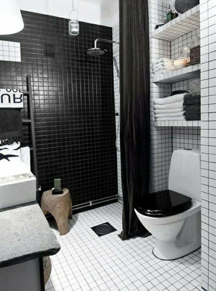 Comment Amenager Une Salle De Bain 4m2 Salle De Bain 4m2 Salle De Bain Noir Et Blanc Carrelage Noir Et Blanc
