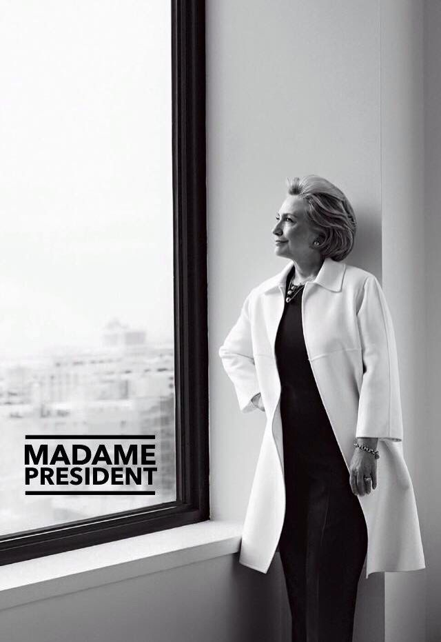 """Some people run for president and they know how hard the job is, but they may not be entirely convinced that this daunting task is one that can be taken on,"""" Clinton says. """"I know how hard it is, and I feel very ready and very confident to take it on."""""""