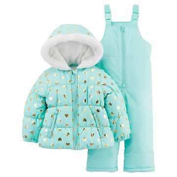 Osh Kosh B/'gosh Infant Girls Blue Dot Print Snowsuit Size 12M 18M 24M