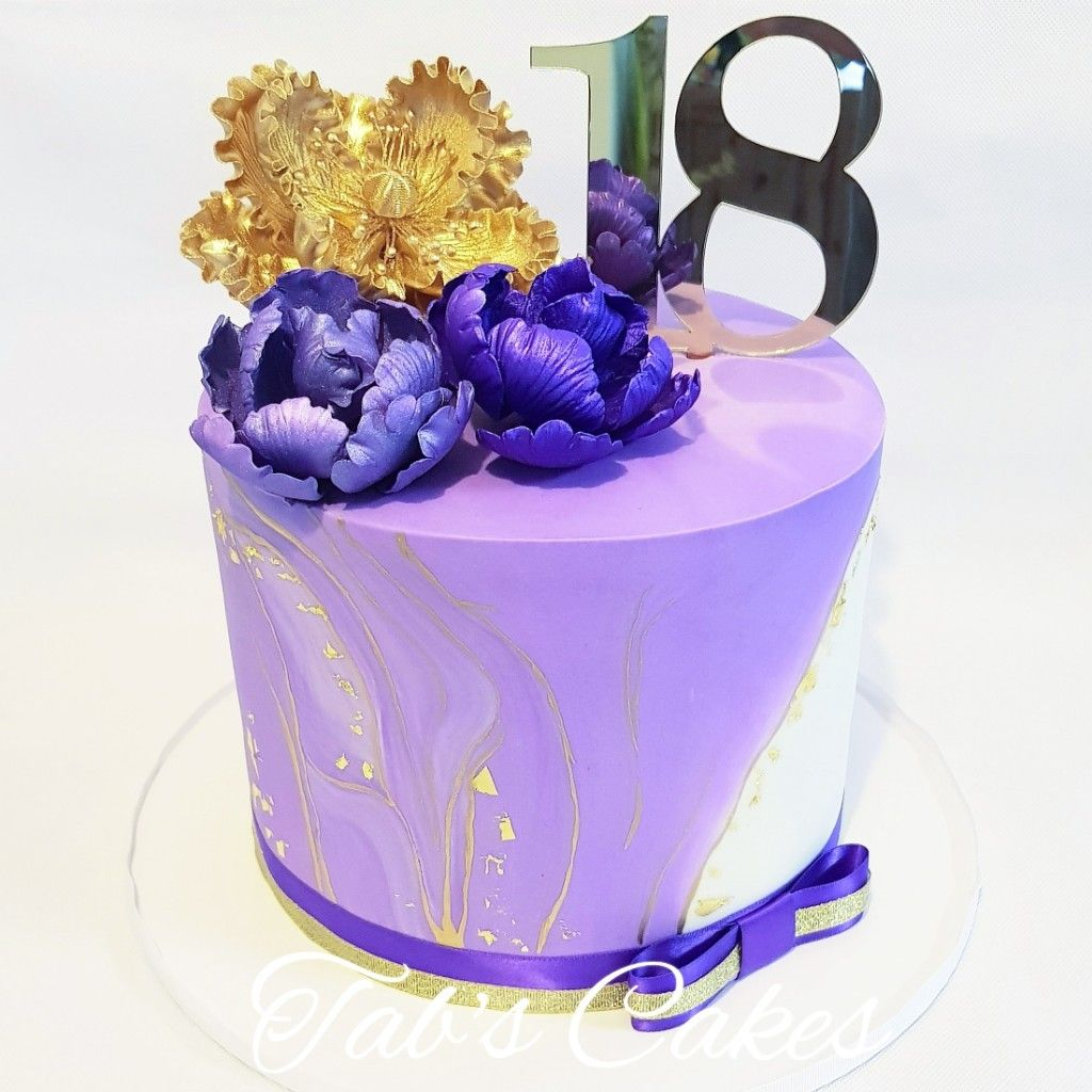 Gold Purple White 18 Edible Flowers Cake Cakes Cakes Tabscakes