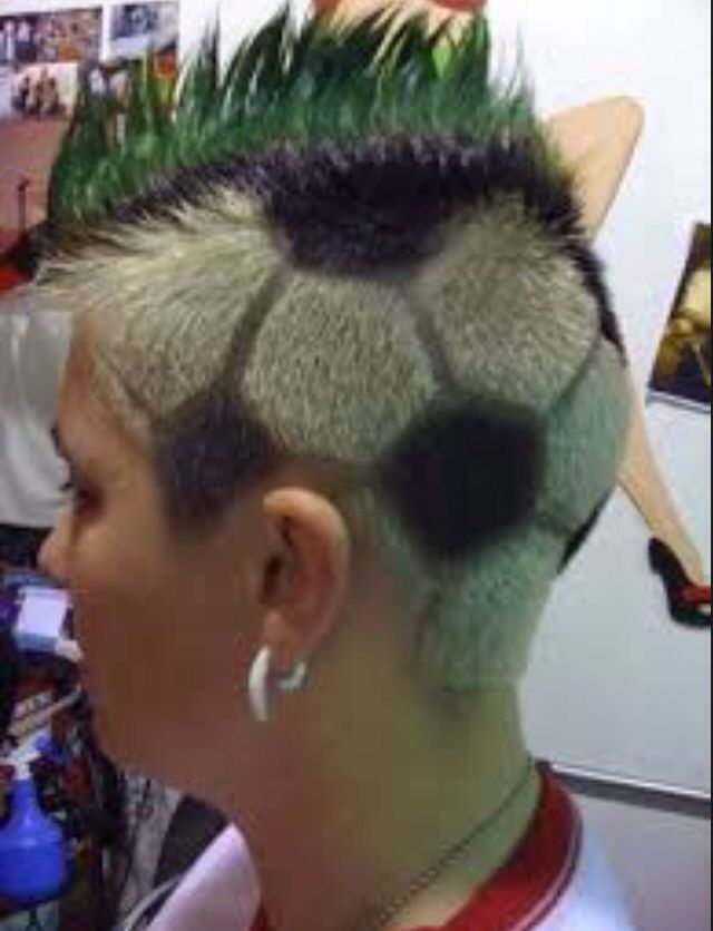 Soccer Ball Hair Pinterest Football Hair Inspiration And