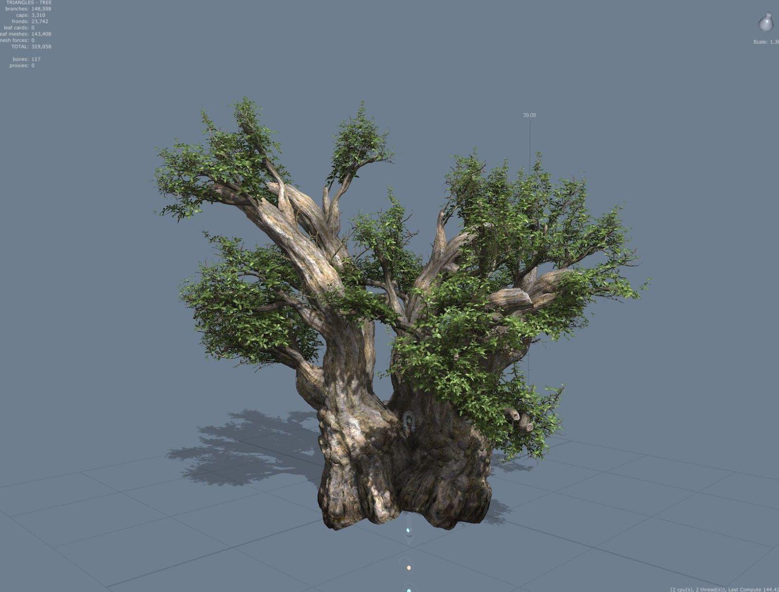 banyan tree 3d model | Inspiration