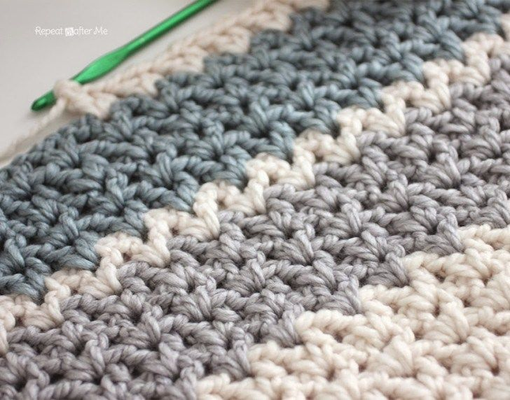 Quick And Easy Chunky Crochet V Stitch Afghan Leslies Lapghan