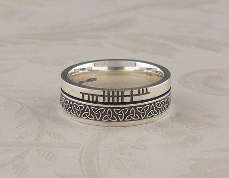 Fine Sterling Silver CZ Celtic Knot 7.5mm Vintage Wedding Band