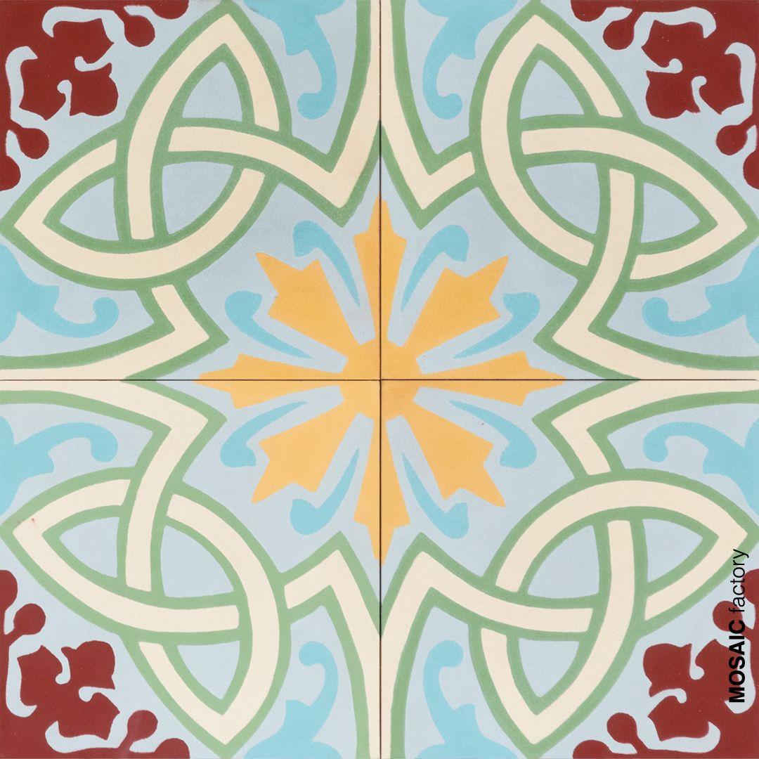 Zementfliesen Ornament | Via Ornament Farbe Die Via Platte