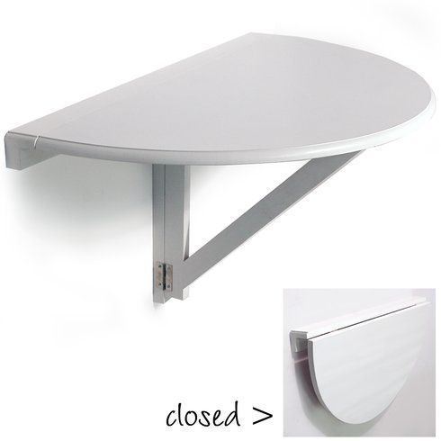 Hierro Wall Mounted Semi Circle Folding Table