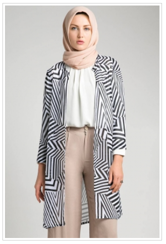 10 contoh model baju muslim casual untuk wanita modis terbaru 2017