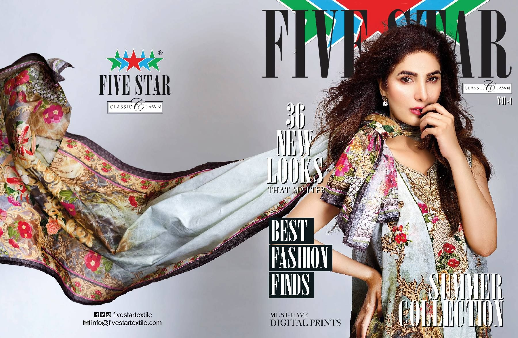 Five Star's Vogue Eid Collection 2013-2014 | Five Star ... |Five Star Lawn Eid Collection
