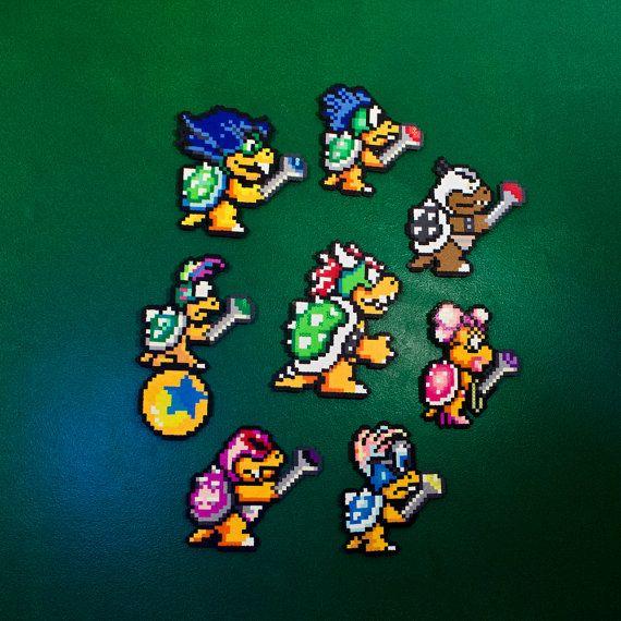 Super Mario Bros 3 Koopalings King Koopa Https Www Etsy Com Listing 267891077 Sm3 Koopa King Koopaling Perler