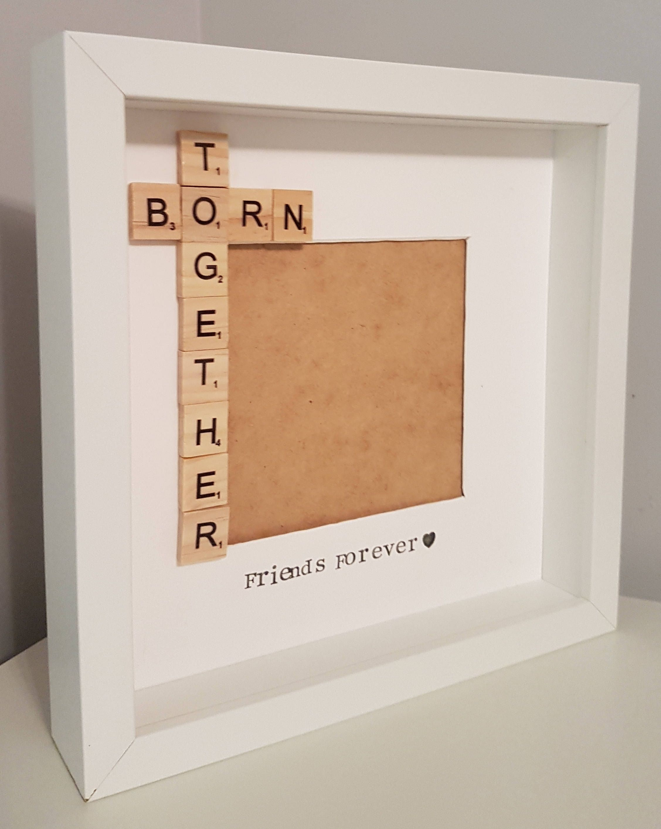 Born together frame, twin frame, triplet frame, siblings frame, new ...