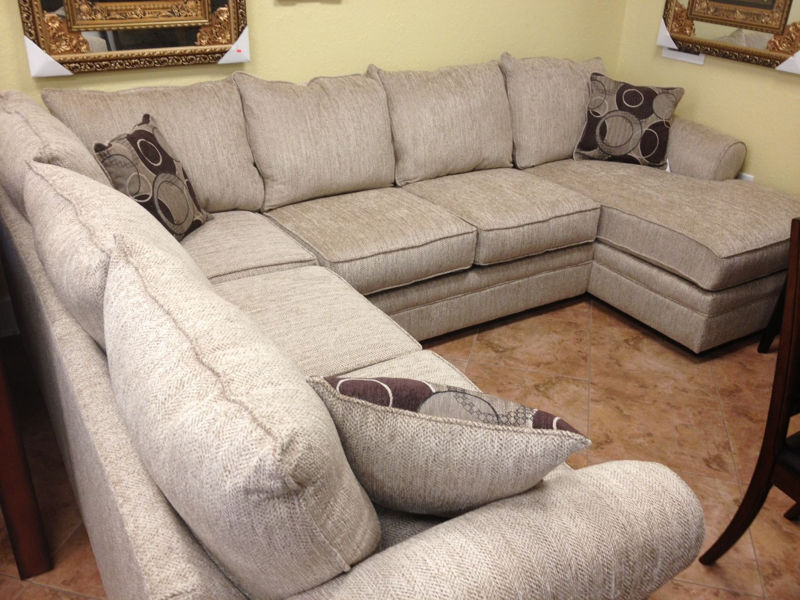 ly $899 for this quality sectional upholstered in a beautiful