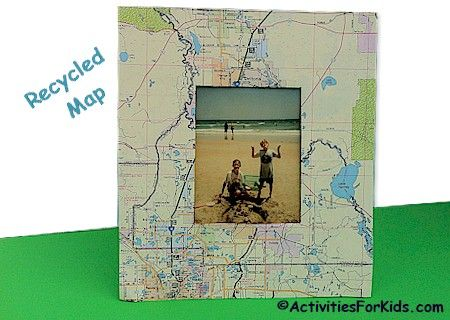 Recycled Map Frame Creative Brownie Ideas And Reuse - Us map picture frame