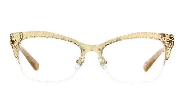 Kate Spade Lyssa Eyeglass Frames in Gold Glitter | Glasses ...