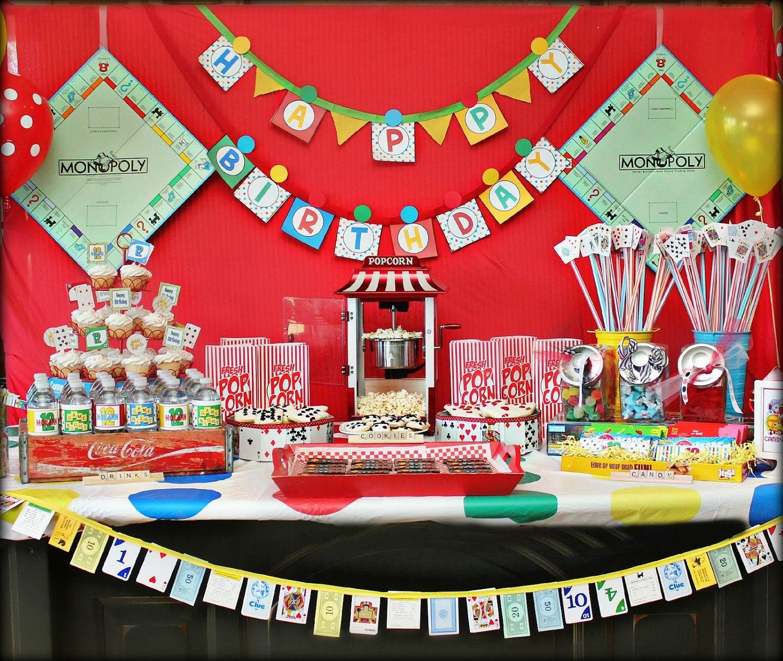 Game Night Decorations- Printable Board Game Birthday Party Decorations  PDF/JPEG #MimisDollhouse