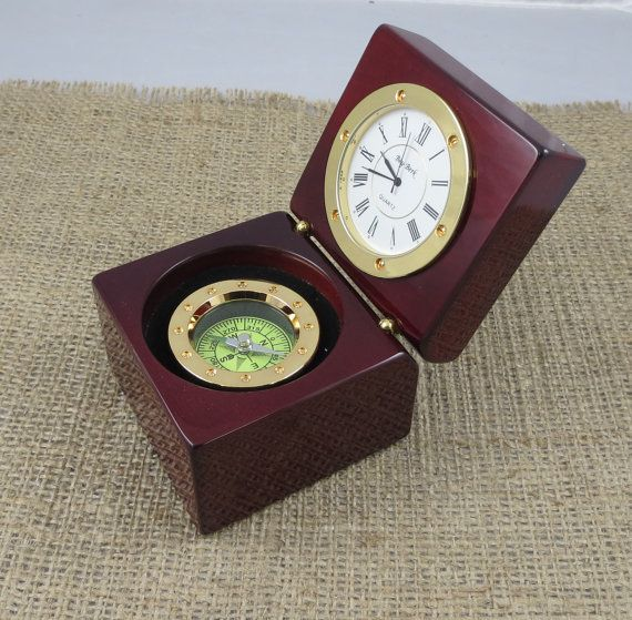 Personalized Nautical Compass Clock Desk By Tiposcreations On Etsy