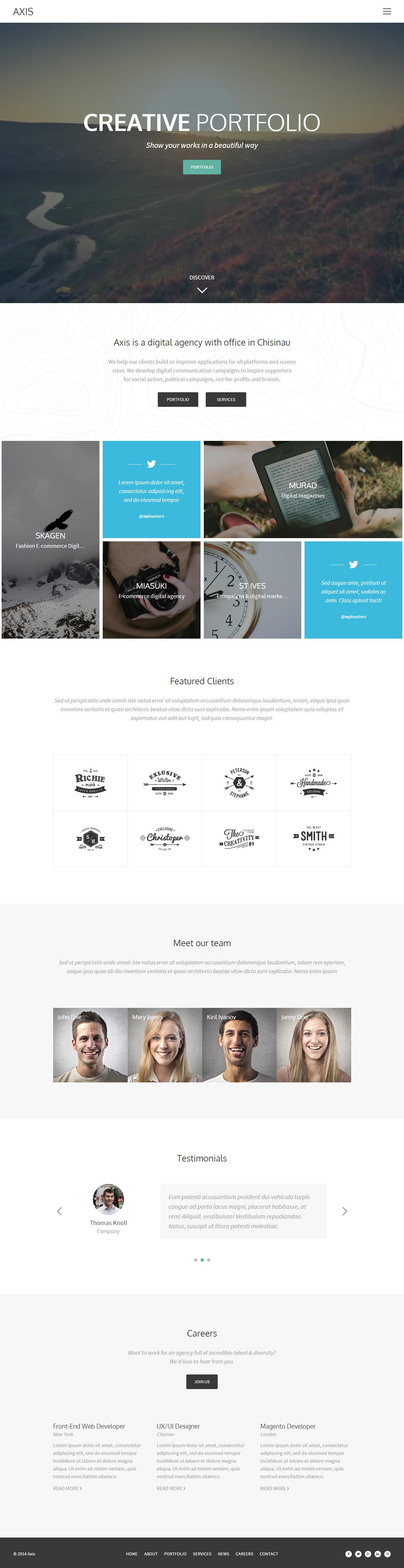 Axis Premium Responsive Portfolio HTML5 Template