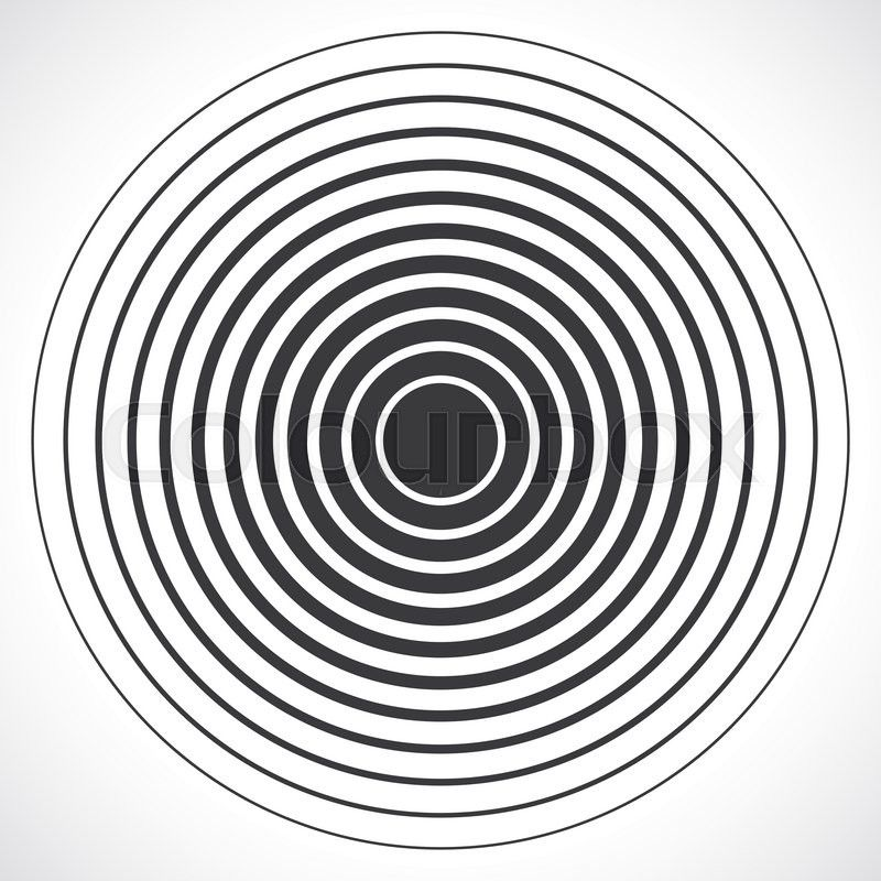 Concentric circle elements. Vector illustration for sound
