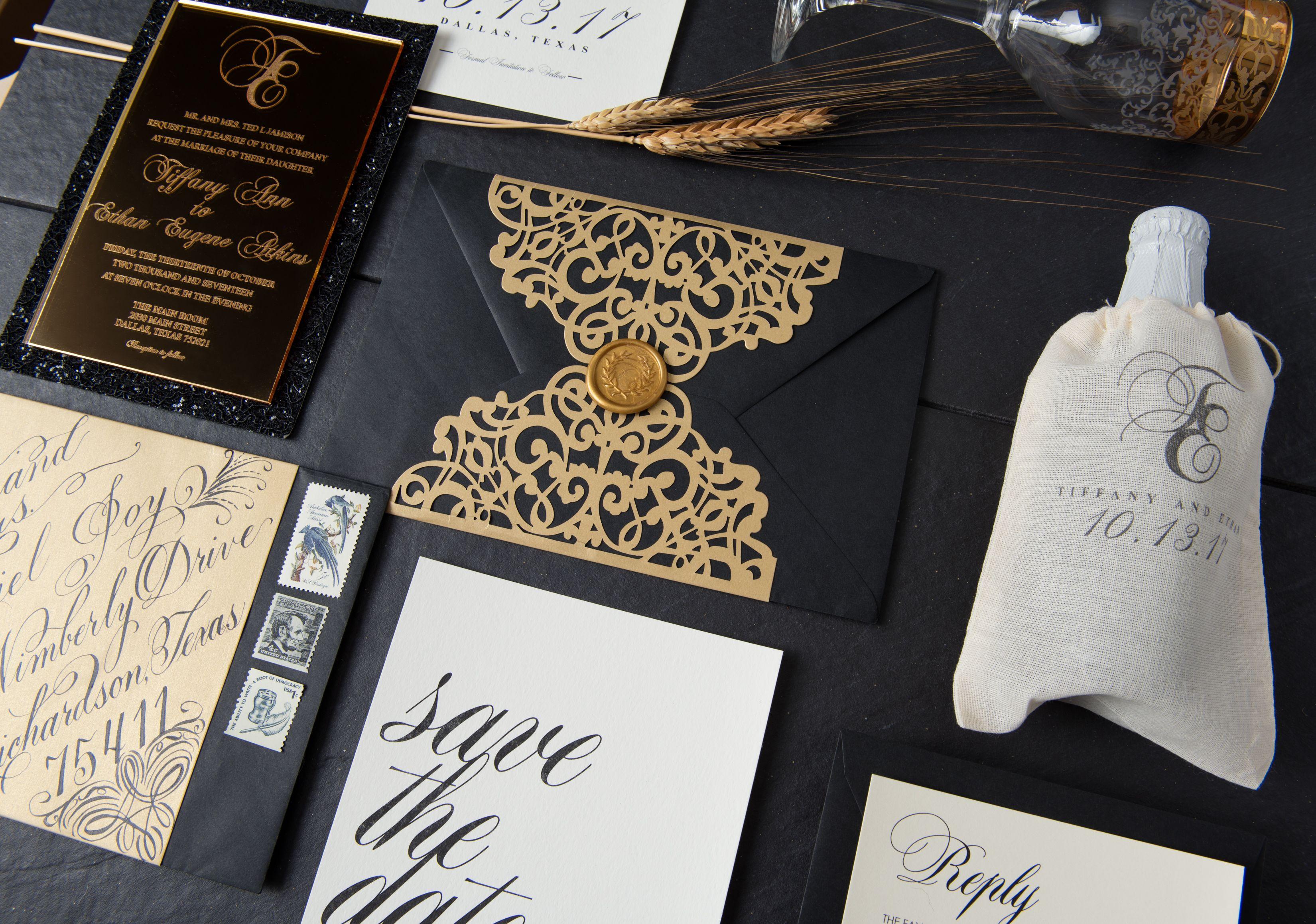 Luxury wedding invitation by The Good Gal