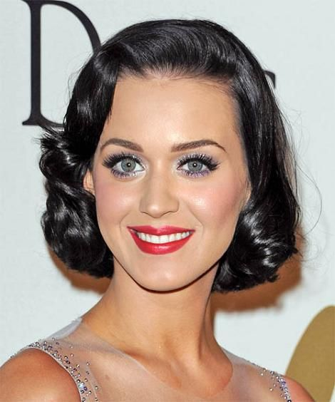 Black hair · Katy Perry's Retro 50's Bob. Short Vintage HairstylesCelebrity  ... - Katy Perry's Retro 50's Bob Vintage Hair: Modern Girls
