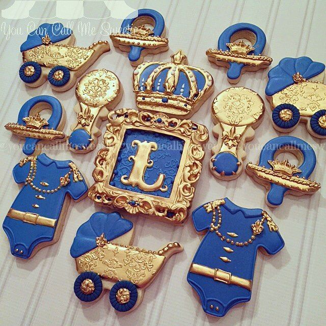 Little Prince Baby Shower Cookies Baby Shower Ideas Pinterest