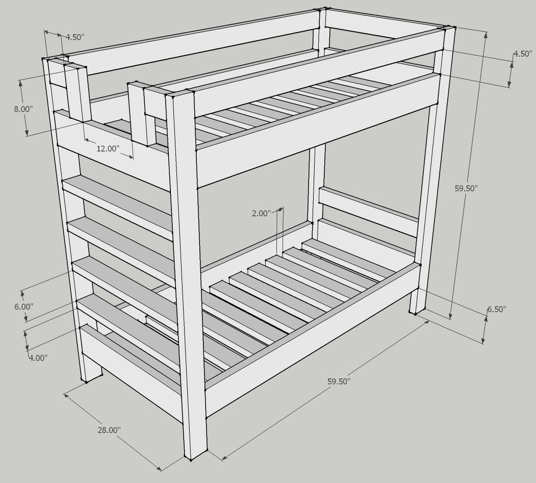 Bunk Bed Design Question Kreg Owners Community Bed