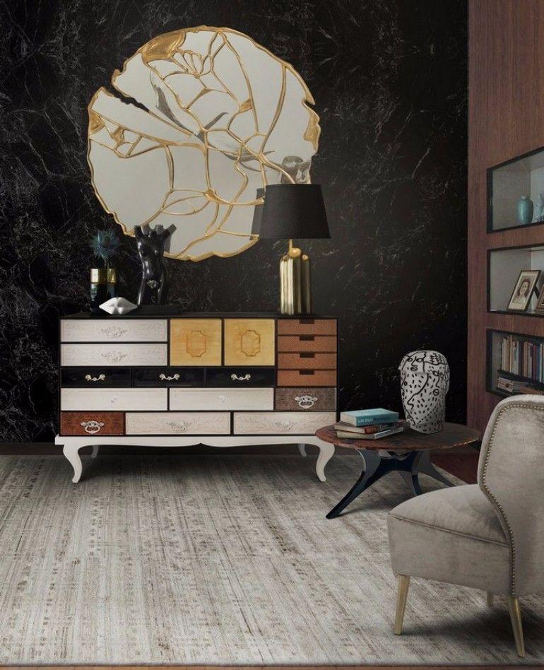 Perfect mirror for living room design     www.bocadolobo.com #bocadolobo #luxuryfurniture #exclusivedesign #interiodesign #designideas #mirrorideas #mirrordesign #mirror