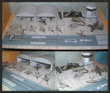 This papercraft is a Military Airfield Diorama, created by ...